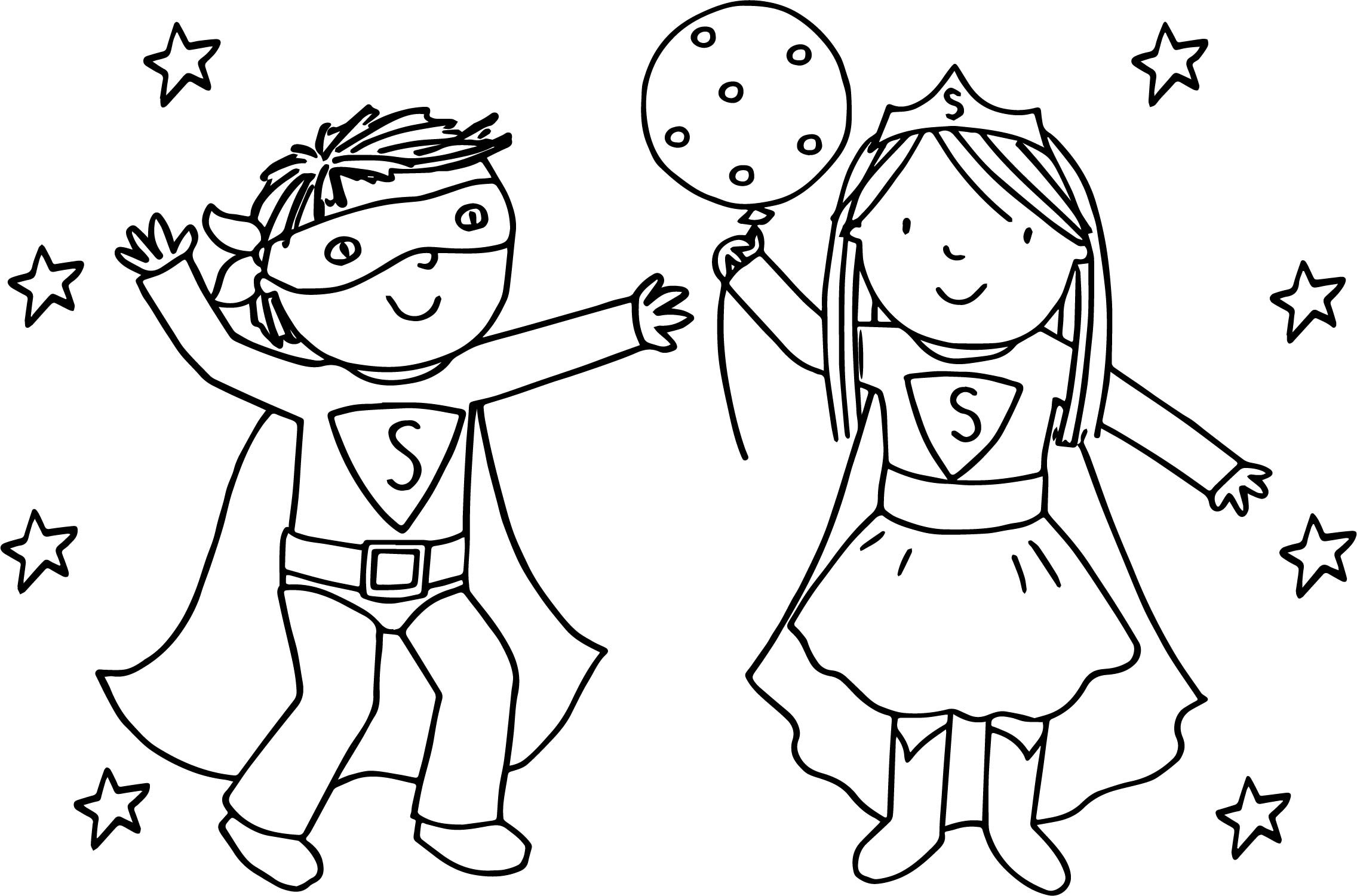 Coloring Sheets For Girls And Boys  Boy And Girl Coloring Pages