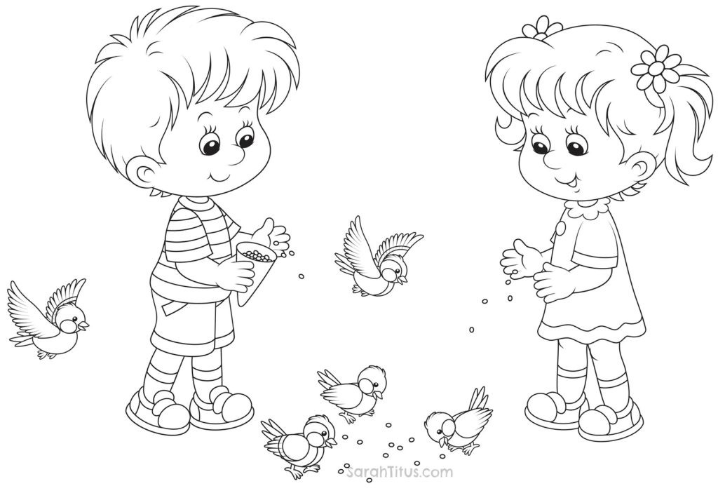 Coloring Sheets For Girls And Boys  Coloring Pages For Boys And Girls – Color Bros