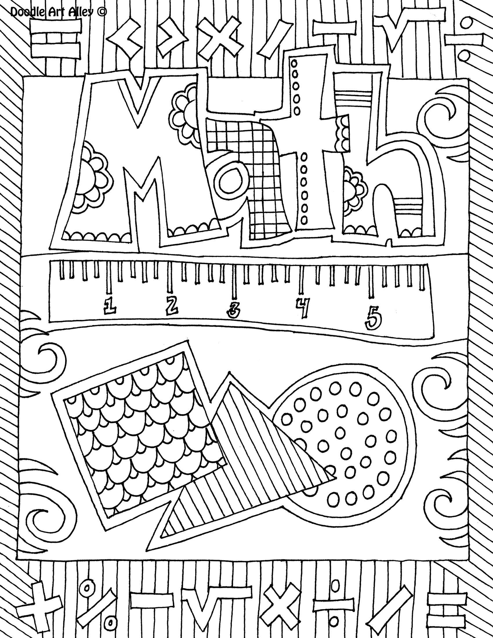 Coloring Sheets For Girls Binders  5 Best of Math Binder Cover Printable Math Binder