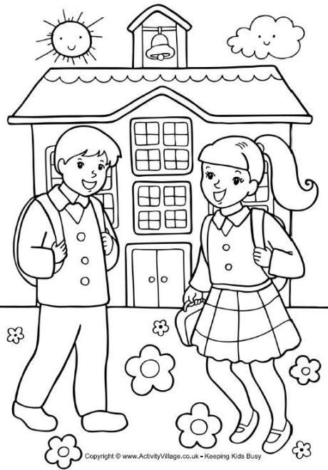 Coloring Sheets For Girls Binders  De vuelta al cole para colorear