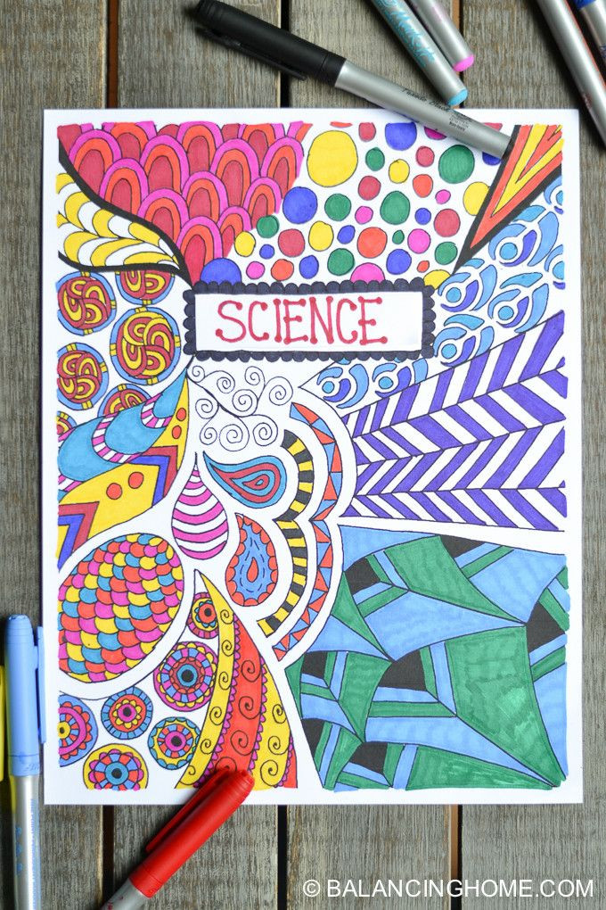 Coloring Sheets For Girls Binders  Coloring Page Binder Cover Printable
