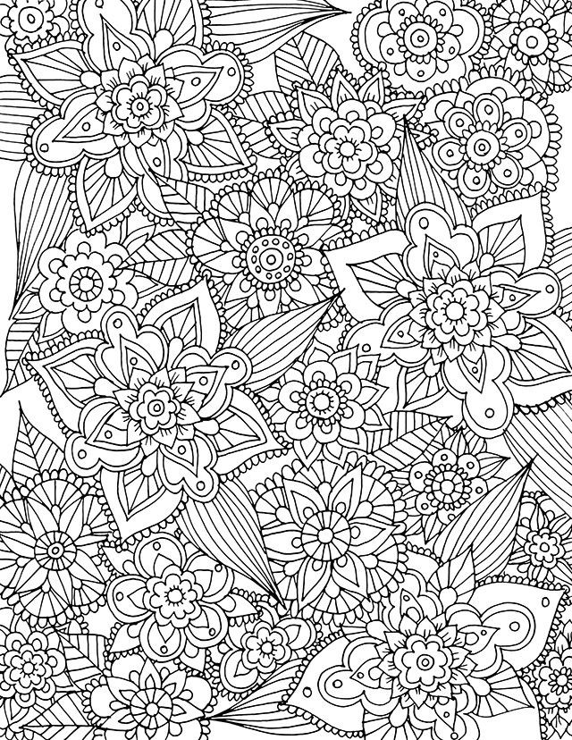 Coloring Sheets For Girls Binders  Free Printable Coloring Pages For Adults Spring The Art