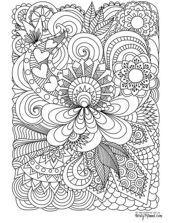 Coloring Sheets For Girls Binders  Mandalas para colorear – chispis