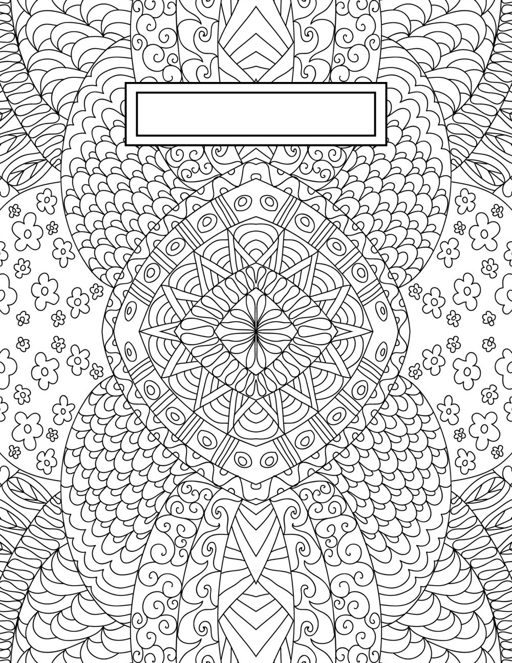 Coloring Sheets For Girls Binders  Back to School Binder Cover Adult Coloring Pages