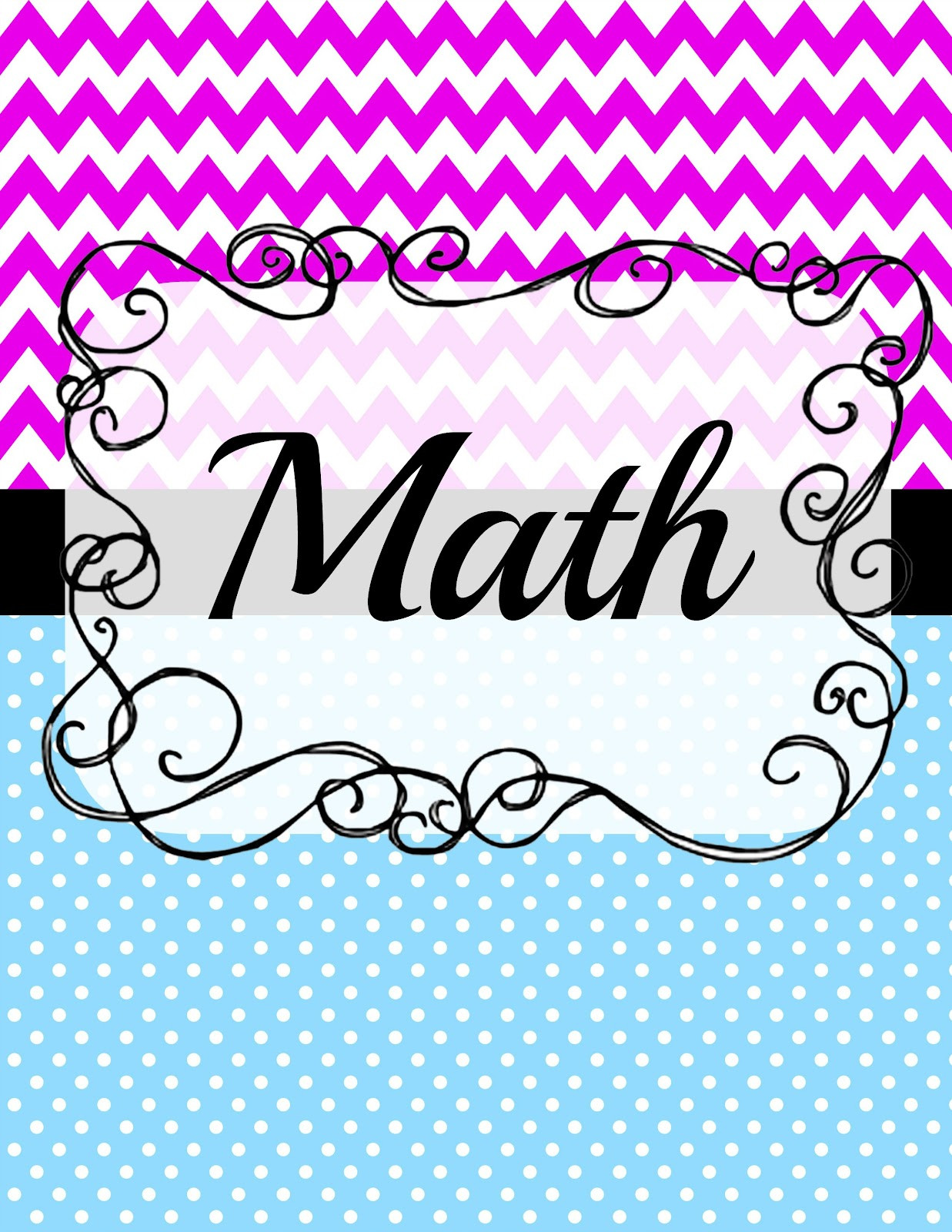 Coloring Sheets For Girls Binders  5 Best of Free Printable Math Notebook Cover Cute