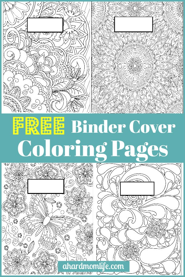 Coloring Sheets For Girls Binders  Free Binder Cover Coloring Pages A Hard Mom Life