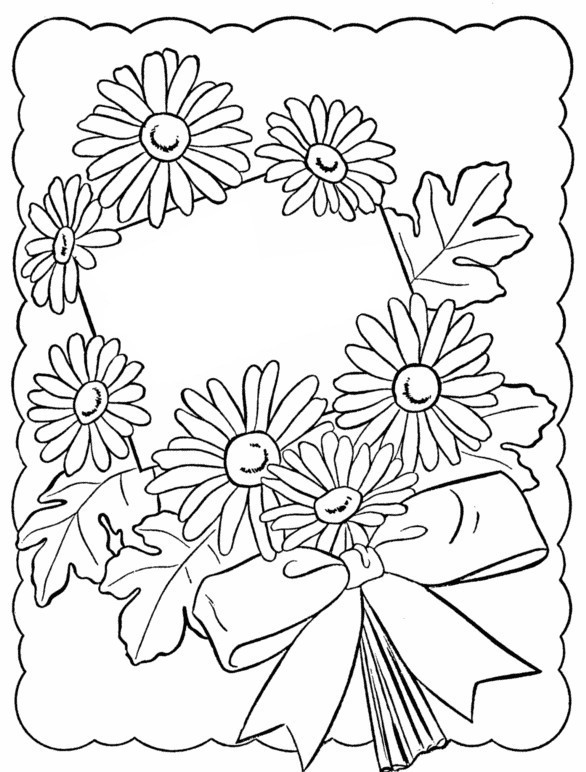 Coloring Sheets For Girls Birthday 10  Coloriage anti stress joyeux anniversaire Fleurs 7