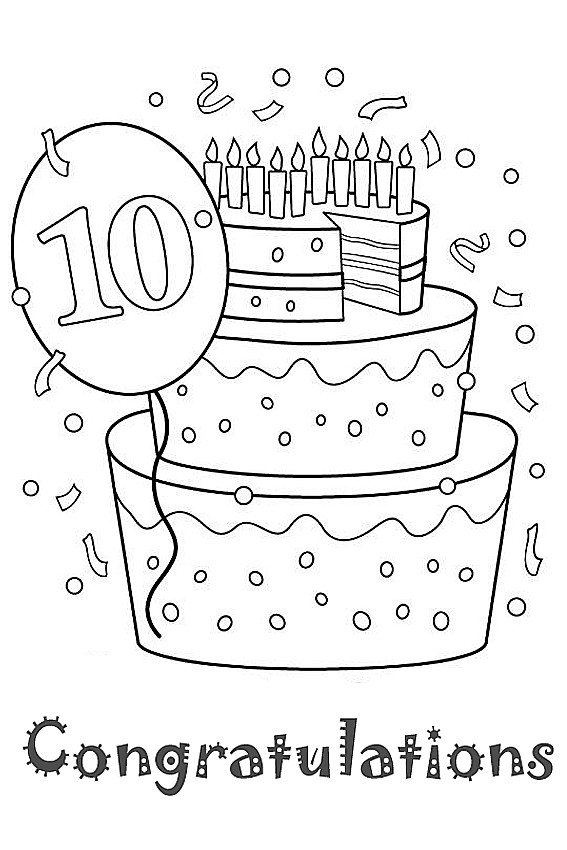 Coloring Sheets For Girls Birthday 10  Happy Birthday coloring pages to color in on your birthday
