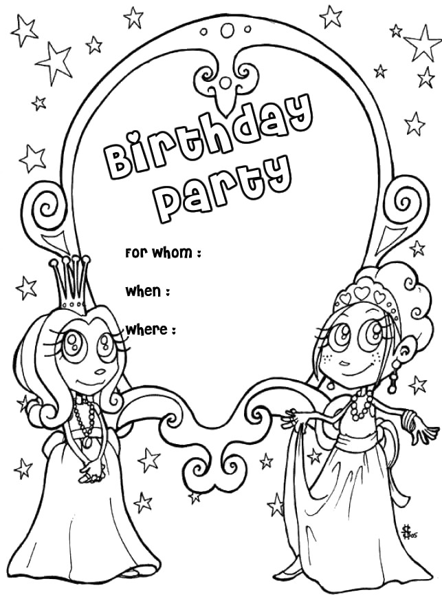 Coloring Sheets For Girls Birthday 10  Free Printable Coloring Birthday Cards AZ Coloring Pages
