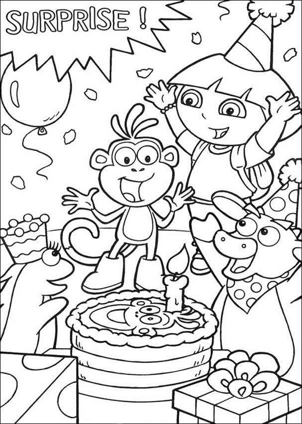 Coloring Sheets For Girls Birthday 10  Birthday Card Coloring Pages AZ Coloring Pages