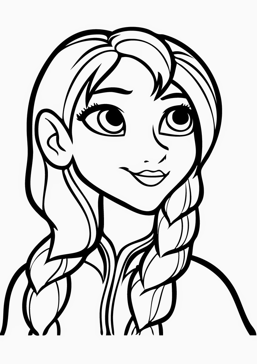 Coloring Sheets For Girls Free Printable  Free Printable Frozen Coloring Pages for Kids Best