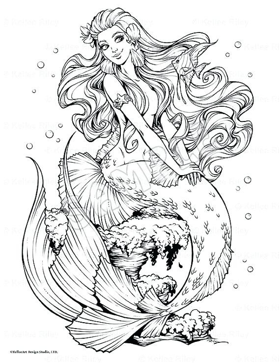 Coloring Sheets For Girls Mermairds  Mermaid Coloring Pages For Adults