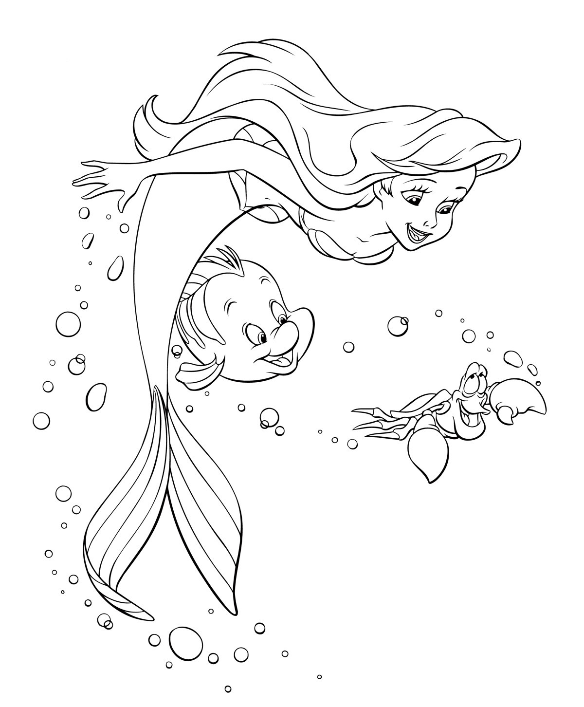 Coloring Sheets For Girls Mermairds  Ariel the Little Mermaid coloring pages for girls to print