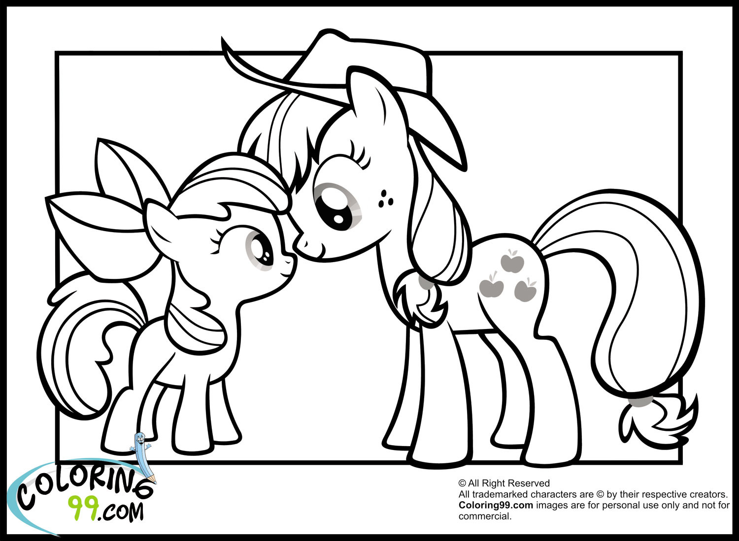 Coloring Sheets For Girls My Little Pony Apple Jack  My Little Pony Applejack Coloring Pages
