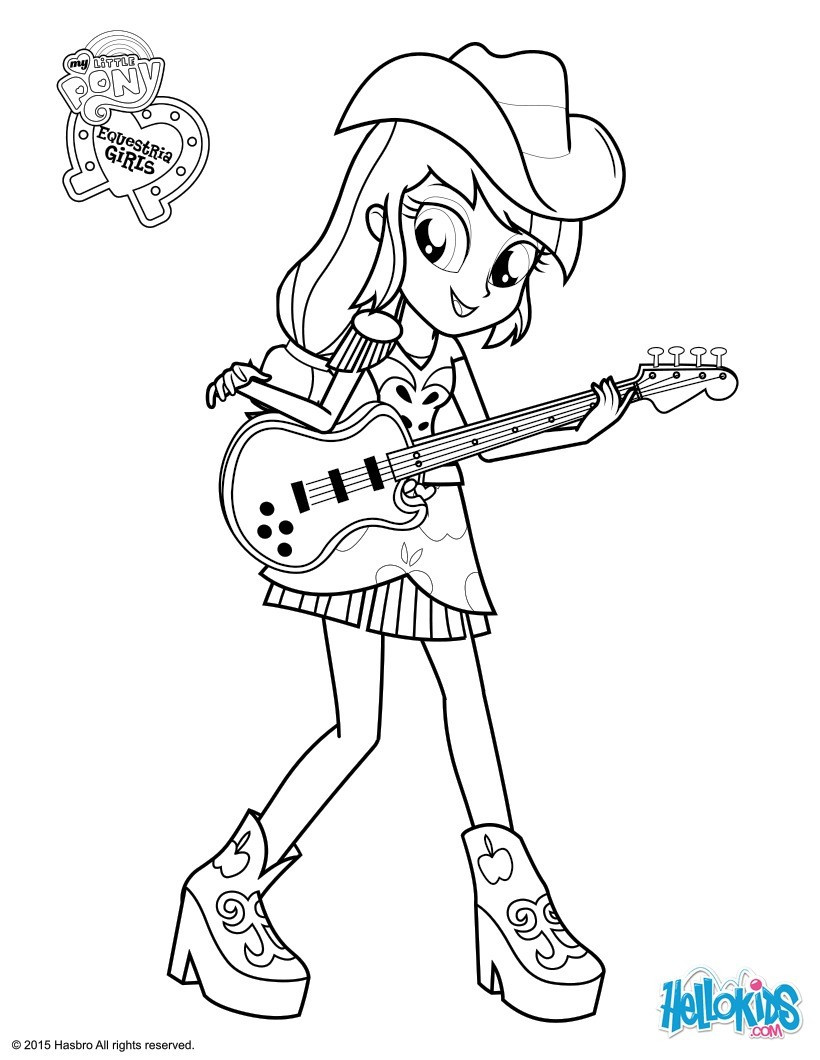 Coloring Sheets For Girls My Little Pony Apple Jack  Applejack coloring pages Hellokids