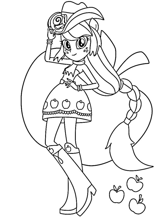 Coloring Sheets For Girls My Little Pony Apple Jack  Apple Jack Coloring Pages Pinterest