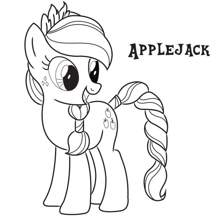 Coloring Sheets For Girls My Little Pony Apple Jack  Applejack Coloring Page Coloring Pages Pinterest