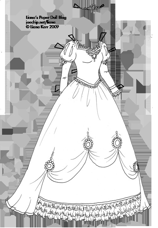 Coloring Sheets For Girls Princess Dresses  coloring book