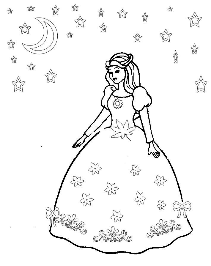 Coloring Sheets For Girls Princess Dresses  Princess dress coloring pages Elena reviews