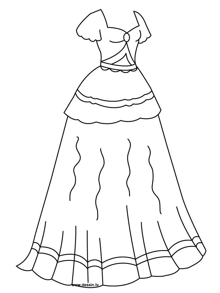 Coloring Sheets For Girls Princess Dresses  Coloring princess dress