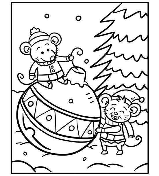 Coloring Sheets For Girls Printable Chistmas  Printable Holiday Coloring Pages