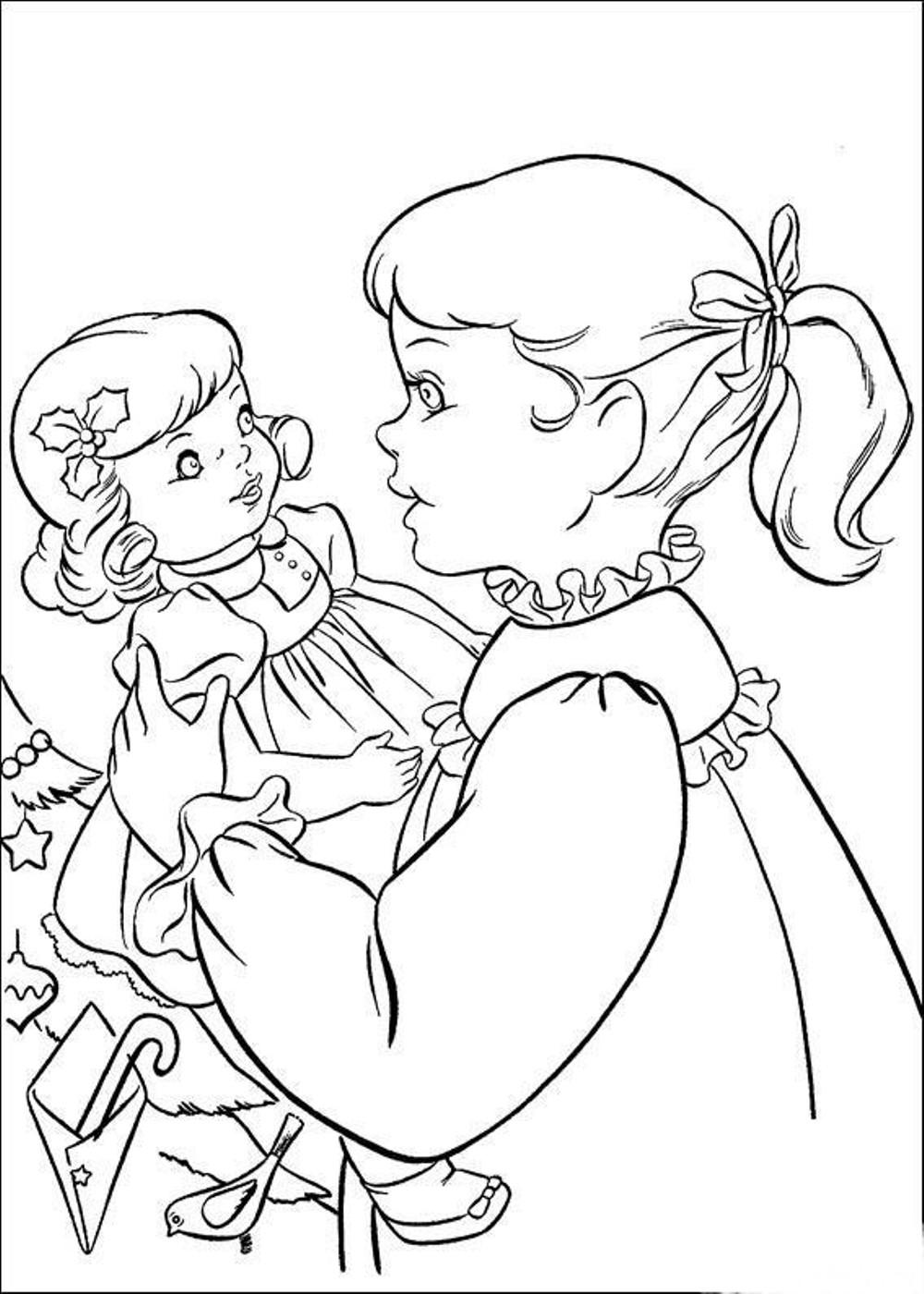 Coloring Sheets For Girls Printable Chistmas  Free Coloring Pages American Girl Kaya