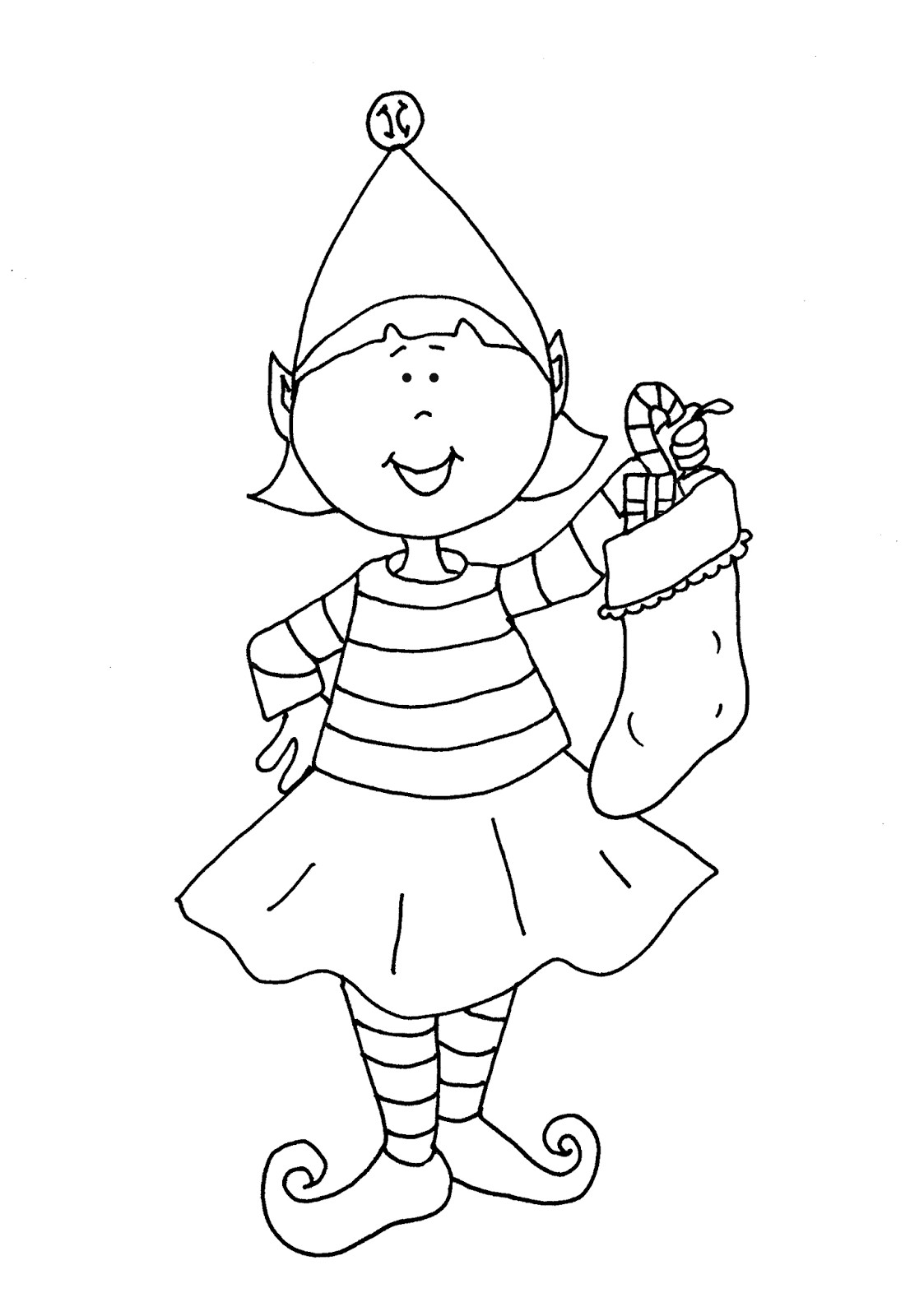 Coloring Sheets For Girls Printable Chistmas  Printable Girl Elf The Shelf Coloring Pages Coloring Home