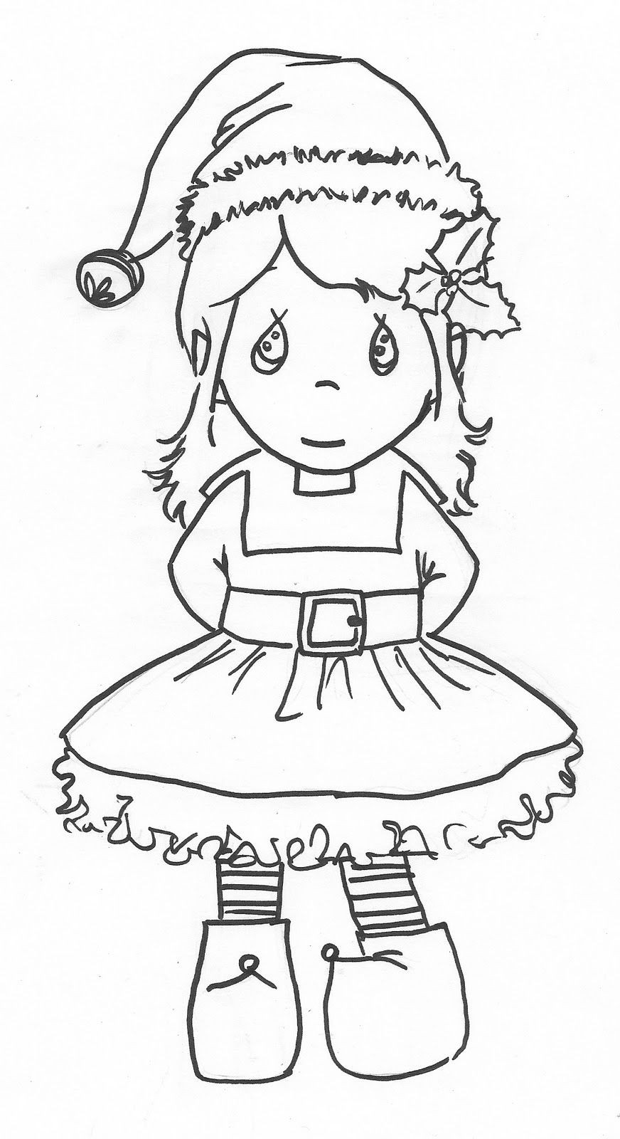 Coloring Sheets For Girls Printable Chistmas  Cute Elf Coloring Pages AZ Coloring Pages