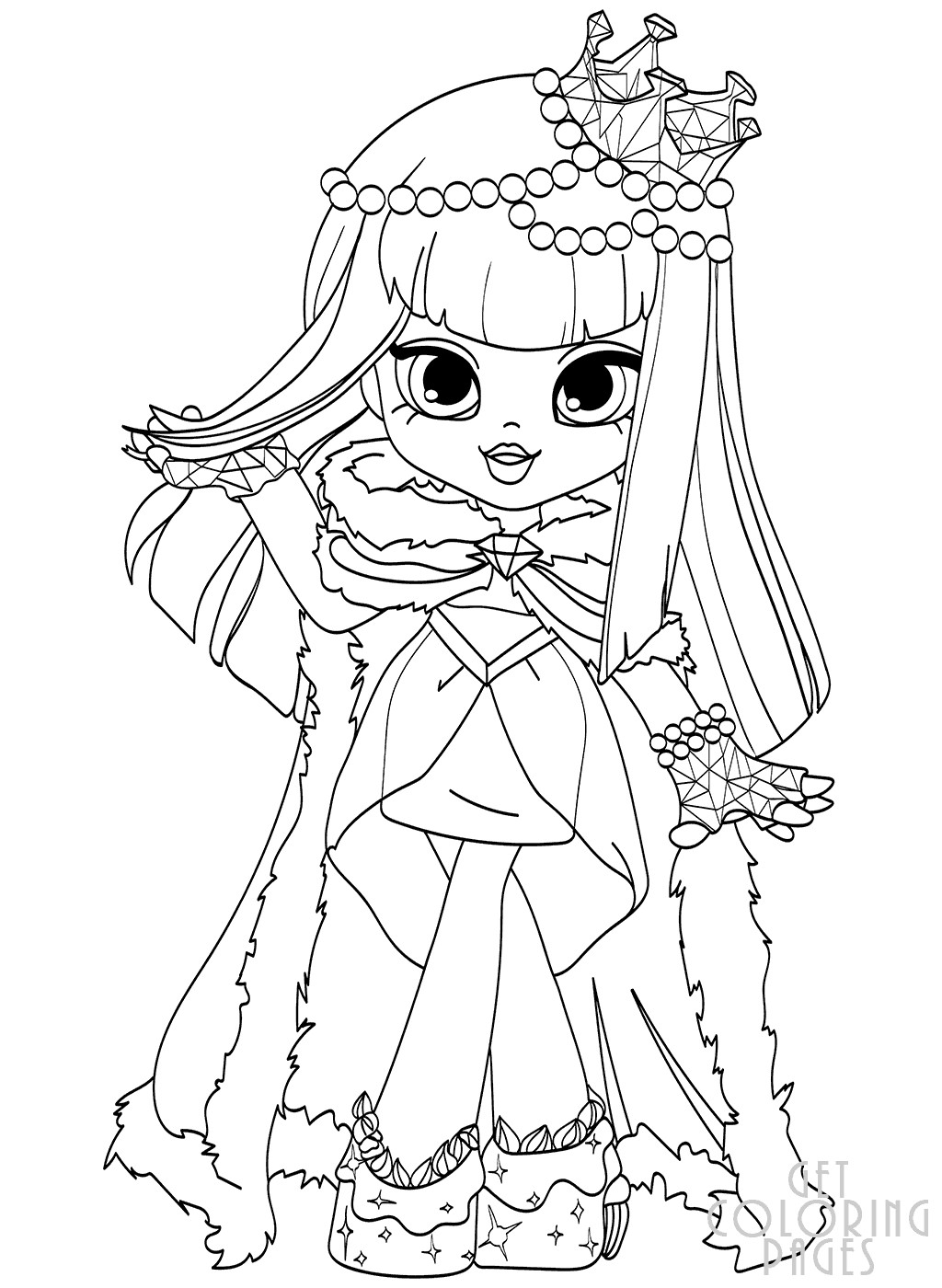Coloring Sheets For Girls Shopkins  Cute Coloring Pages For Girls 7 To 8 Shopkins To