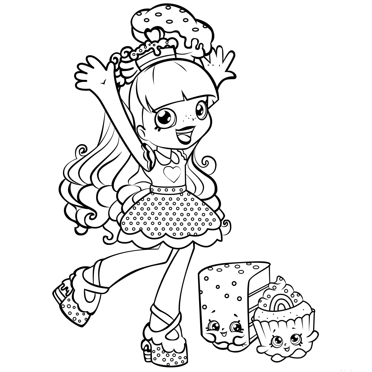 Coloring Sheets For Girls Shopkins  Shopkins Coloring Pages