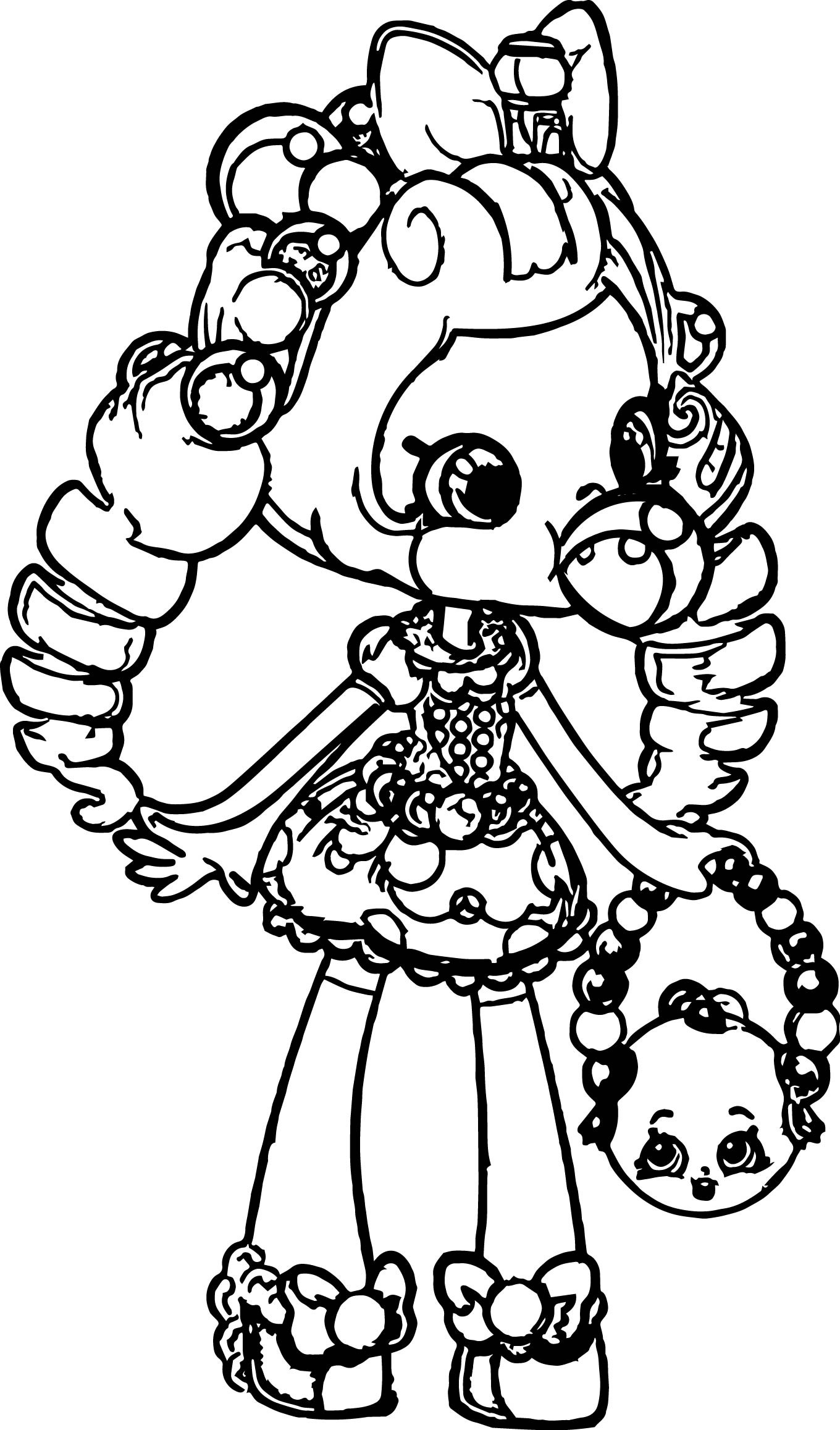 Coloring Sheets For Girls Shopkins  Shopkins Balloon Girl Coloring Page