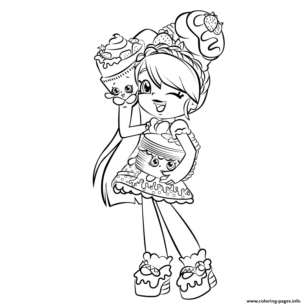 Coloring Sheets For Girls Shopkins  Cute Girl Shopkins Shoppies Coloring Pages Printable