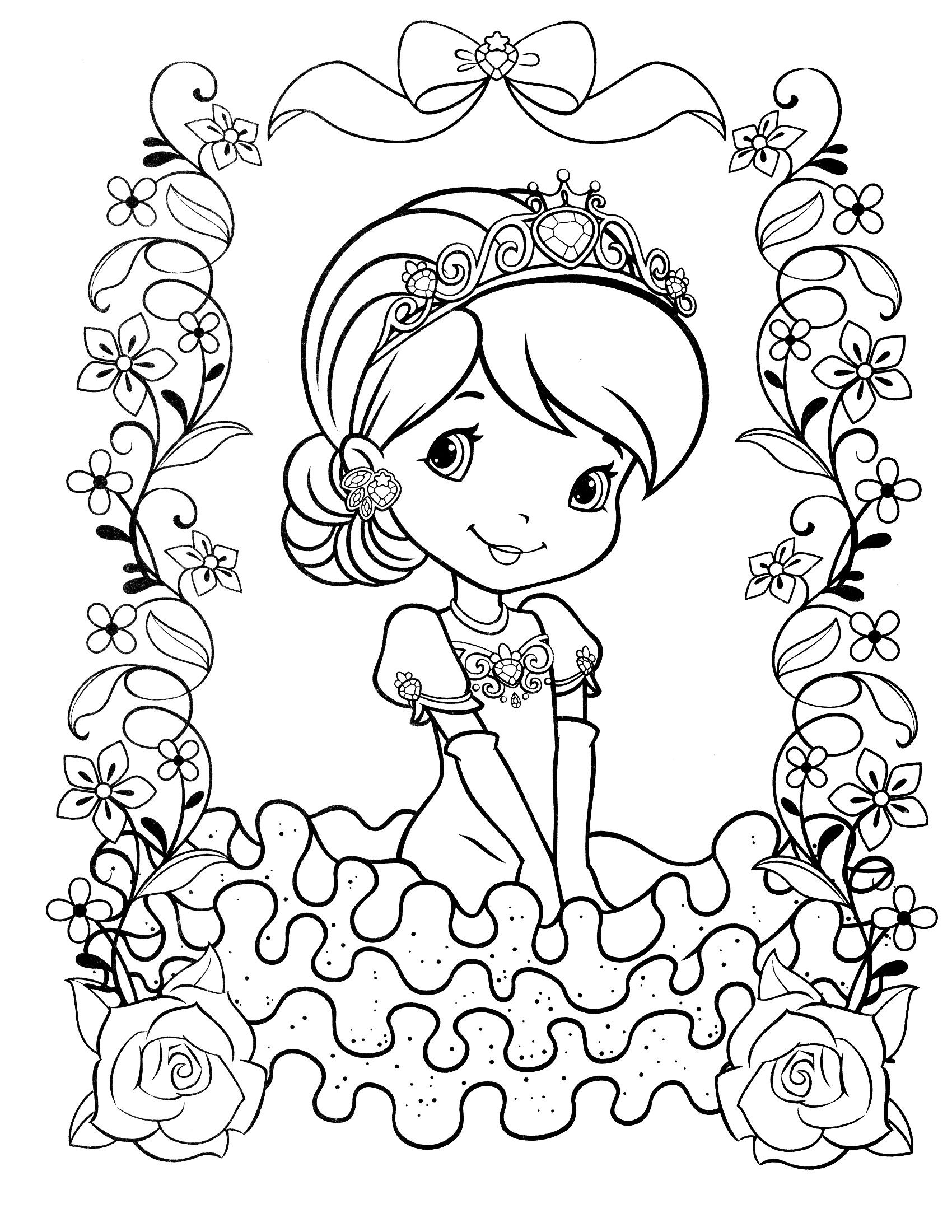 Coloring Sheets For Girls Strawberry Shortcake  strawberry shortcake coloring page