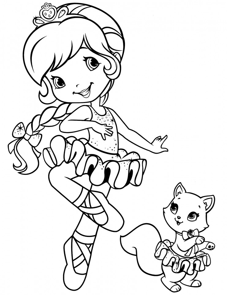 Coloring Sheets For Girls Strawberry Shortcake  Get This Girls Coloring Pages of Strawberry Shortcake
