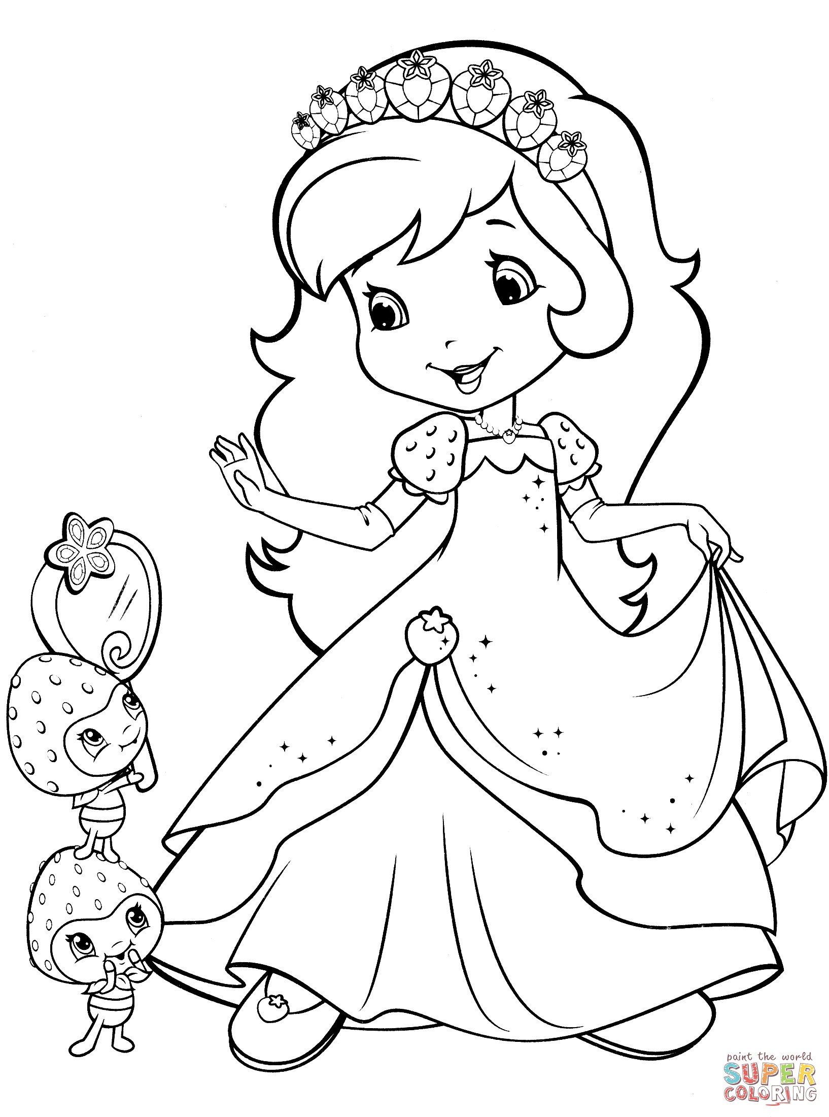 Coloring Sheets For Girls Strawberry Shortcake  Strawberry Shortcake and Berrykins coloring page
