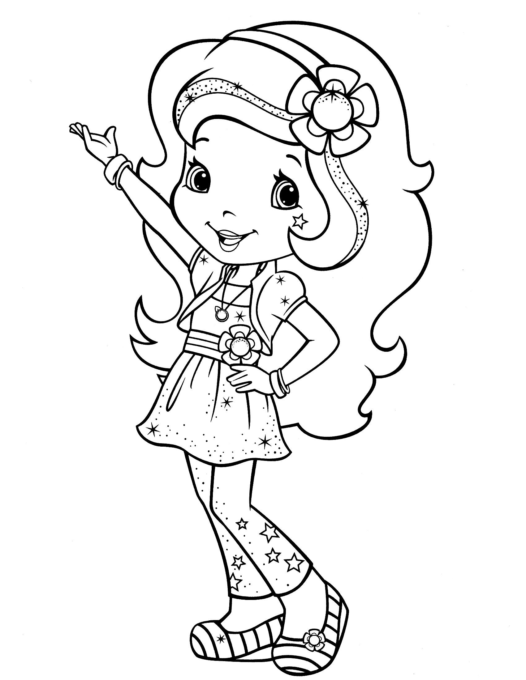 Coloring Sheets For Girls Strawberry Shortcake  Download Strawberry Shortcake coloring pages