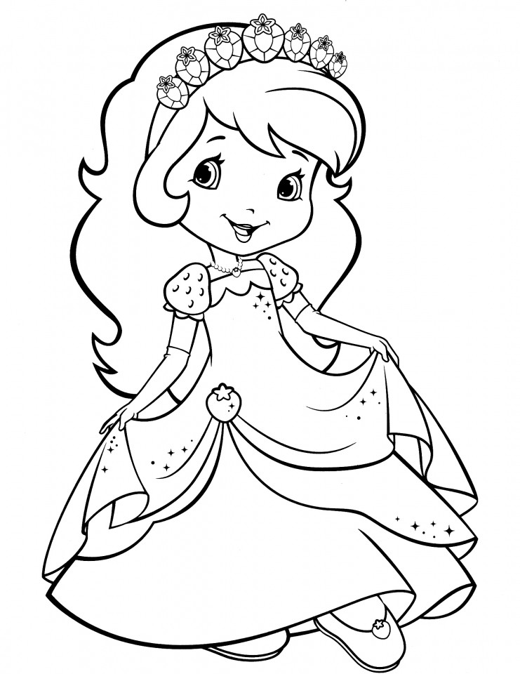 Coloring Sheets For Girls Strawberry Shortcake  Get This Strawberry Shortcake Coloring Pages for Girls