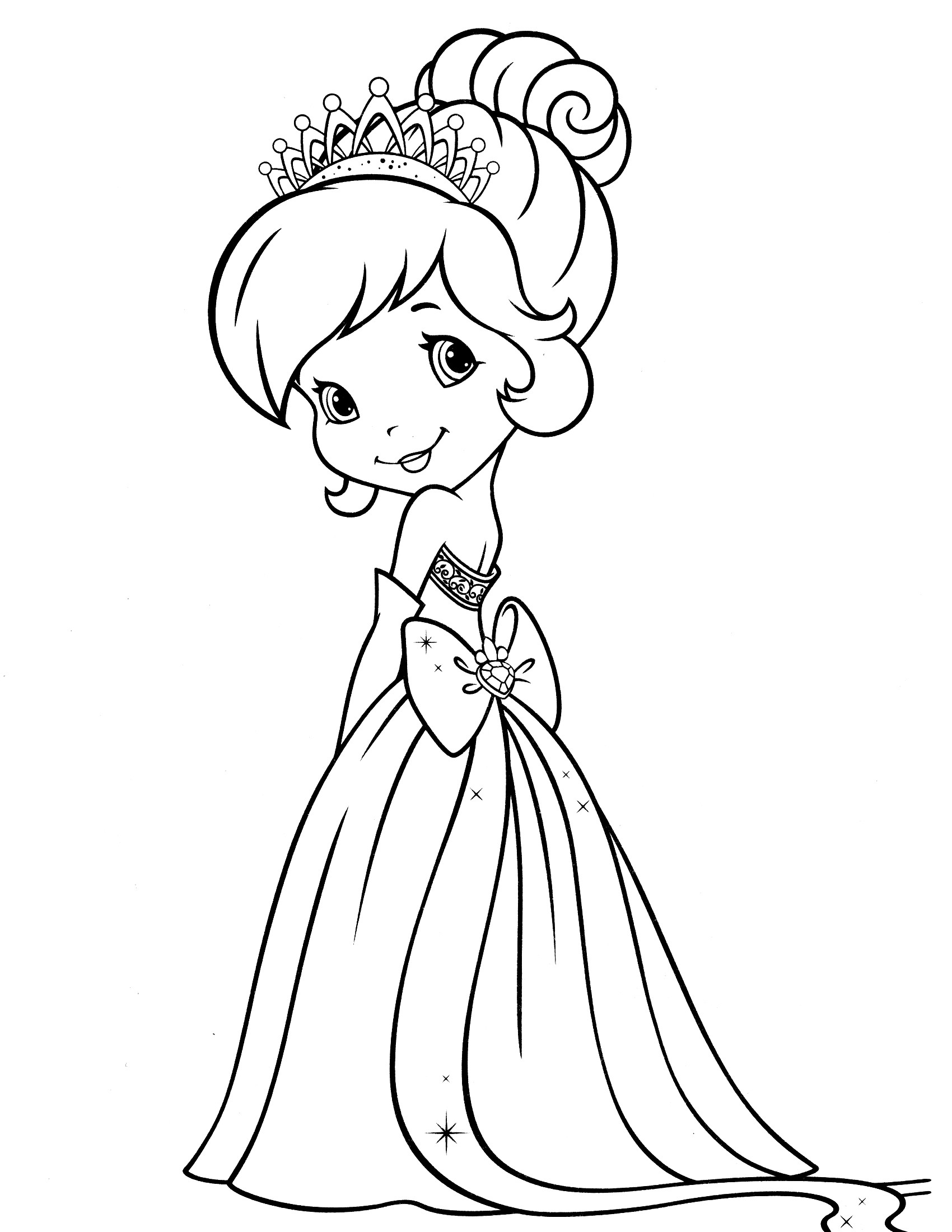 Coloring Sheets For Girls Strawberry Shortcake  Strawberry Shortcake Coloring Pages Strawberry Shortcake