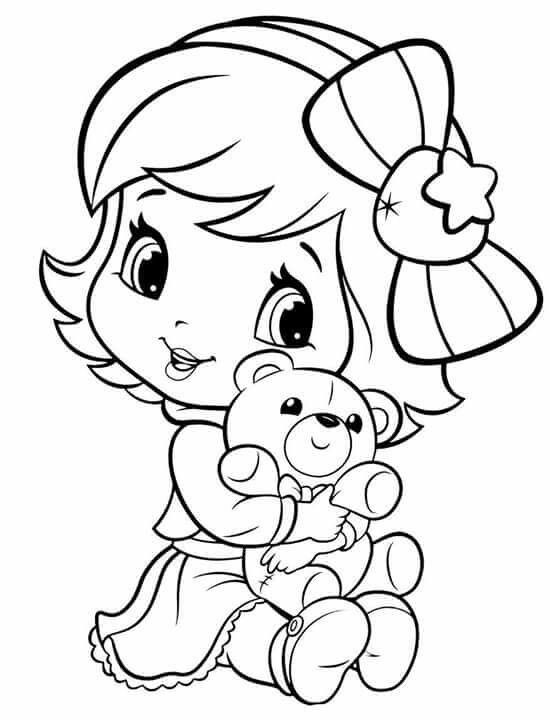 Coloring Sheets For Girls Strawberry Shortcake  Baby Strawberry Shortcake