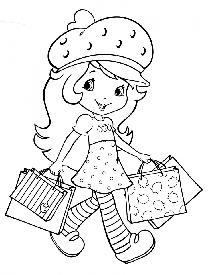 Coloring Sheets For Girls Strawberry Shortcake  Get This Fun Strawberry Shortcake Coloring Pages for Girls
