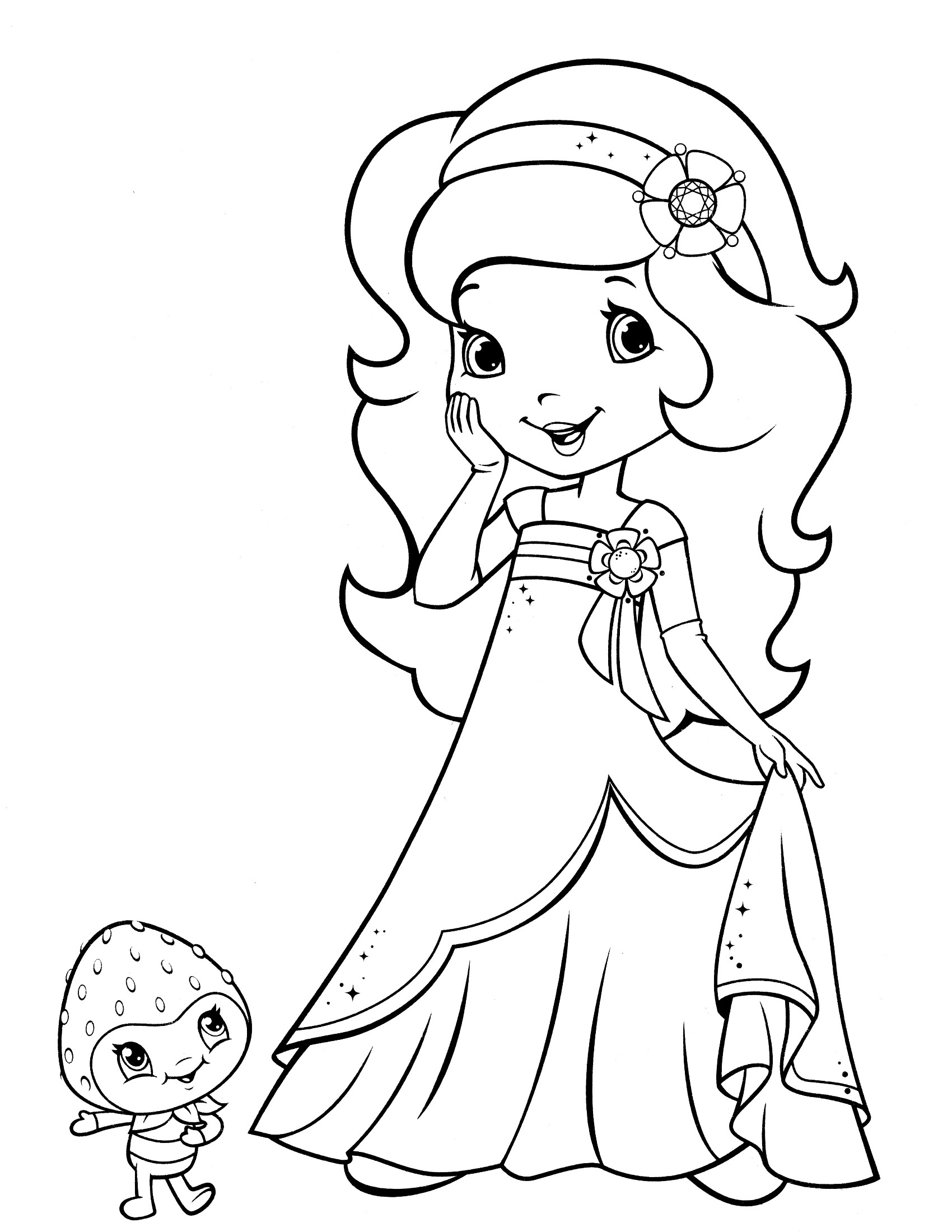 Coloring Sheets For Girls Strawberry Shortcake  Strawberry Shortcake Coloring Pages coloringsuite