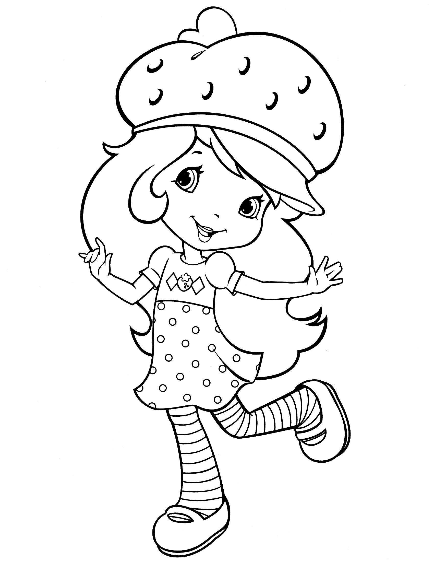 Coloring Sheets For Girls Strawberry Shortcake  Strawberry Shortcake Coloring Pages