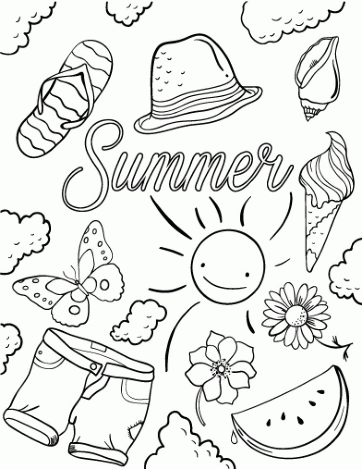 Coloring Sheets For Girls Summer  20 Free Printable Summer Coloring Pages