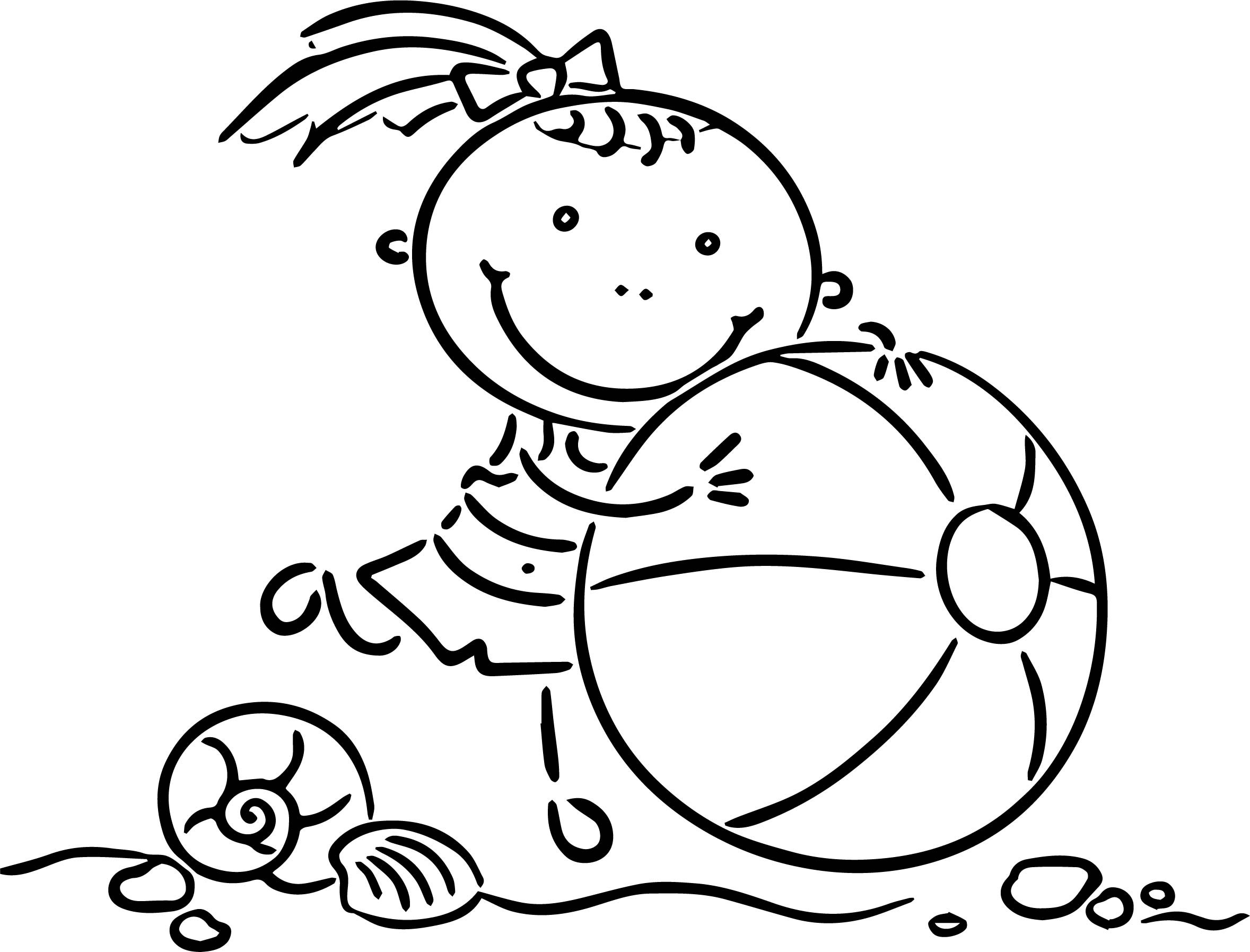 Coloring Sheets For Girls Summer  Happy Summer Girl Coloring Page