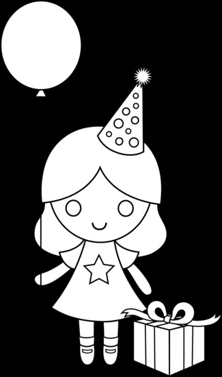 Coloring Sheets For Girls That Have A Birthday9  birthday drawing for kids