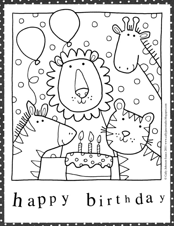 Coloring Sheets For Girls That Have A Birthday9  Birthday Coloring Pages For Preschoolers Cake Preschool