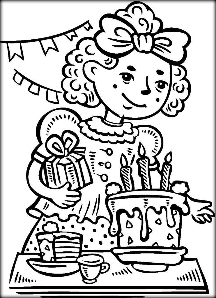 Coloring Sheets For Girls That Have A Birthday9  Free Happy Birthday Coloring Pages For Kids Color Zini