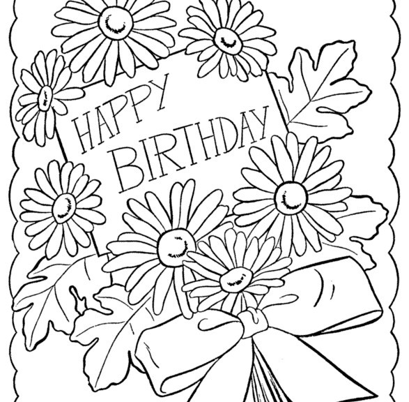 Coloring Sheets For Girls That Have A Birthday9  Free Coloring Pages For Girls Printable Birthday Card