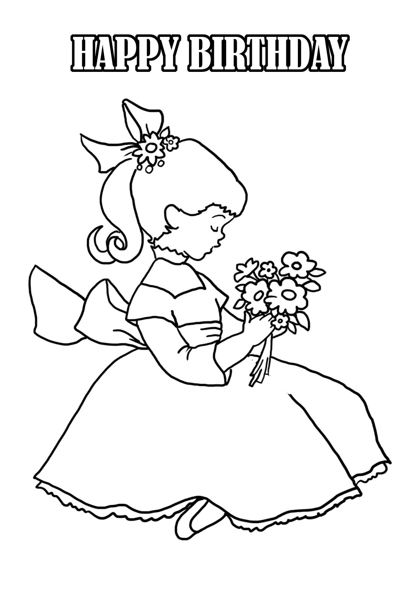 Coloring Sheets For Girls That Have A Birthday9  Birthday Coloring Pages