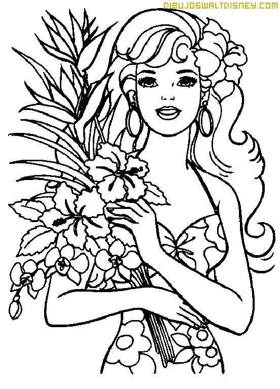 Best ideas about Coloring Sheets For Girls The Birthday Wenepoo . Save or Pin Barbie primavera para colorear Now.